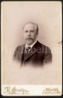 Photo Ancien / Cabinet Card / Cabinet Photo / Russia / Man / Homme / Photographer / Moscow / Mockba / 2 Scans - Photos