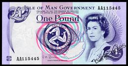 ISLE OF MAN 1 POUND ND(1983) Pick 40b Unc - [ 4] Isle Of Man / Channel Island