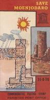 Pakistan Fdc 1976 First Day Brochure & Stamps Save Moenjodaro Unesco World Heritage - Pakistan