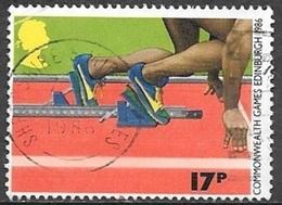1986 Commonwealth Games, Track & Field, 17p, Used - 1952-.... (Elizabeth II)
