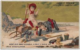 H.Lass 596 Ciel Or /Scène De Plage Avec Enfants > Bébé, Vois Dans Le Sable, Il Doit Y Avoir Des Jolis Coquillages - Poulain