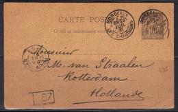 Bordeaux-Les Chartrons : EP Sage Pour Rotterdam (Hollande), 1891. - Postmark Collection (Covers)