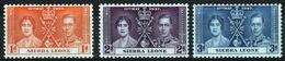 Sierra Leone 1937 George VI Set To Celebrate The Coronation. - Sierra Leone (...-1960)