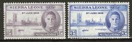 Sierra Leone 1946 George VI Set To Celebrate Victory. - Sierra Leone (...-1960)
