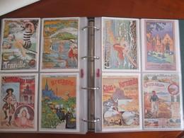 Lot De 96 Cartes Modernes  D Affiches De Chemin De Fer Diverses Regions - Werbepostkarten