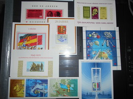 Collection , Ddr 10 Blocs Neuf - Timbres