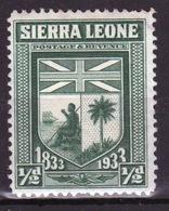 Sierra Leone 1933 George VI Single Stamp Showing The Arms Of Sierra Leone. - Sierra Leone (...-1960)