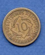 Allemagne  -  10 Rentenpfennig 1924 E - Km # -  état  TB+ - [ 3] 1918-1933: Weimarer Republik