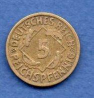 Allemagne  -  5 Reichspfennig 1926 A - Km # 39-  état  TTB - [ 3] 1918-1933 : Weimar Republic