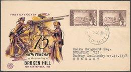 AUSTRALIA - 1958 FDC - 1952-65 Elizabeth II : Ed. Pré-décimales