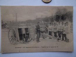 Carte-BOURGES-37é Régiment D'artillerie-Théorie Sur Le Canon De 75 - Barracks