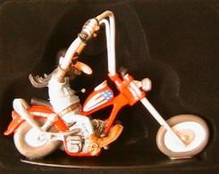 JOE BAR TEAM GUY TOURNEPAS BIKE MOTO CHOPPER HARLEY-DAVIDSON 1/18 RESINE FIGURINE - Figurines