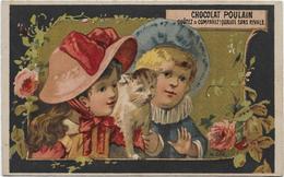 H.Lass 556  Fond Or Histoire : Bébé Et Sa Soeur Jeanne Avec Le Chat De La Maison - Poulain