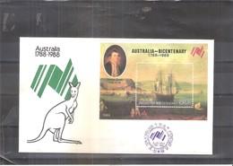 Bateaux - FDC Corée Du Nord - Bicentenaire De L'Australie - Bloc - (à Voir) - Bateaux