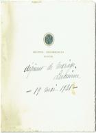 Menu. Hotel Negresco, Nice. 1931 - Menus