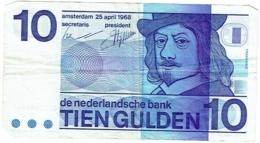 De Nederlandsche Bank. Tien Gulden. 10 Gulden. 25 April 1968. - [2] 1815-… : Royaume Des Pays-Bas