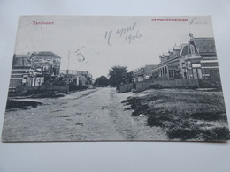 Ansichtkaart, Zandvoort, Haarlemmerstraat, 17 April 1907 + Stempel Met Datum. - Zandvoort