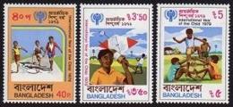 Bangladesh, 1979, IYC, International Year Of The Child, United Nations, MNH, Michel 128-130A - Bangladesh