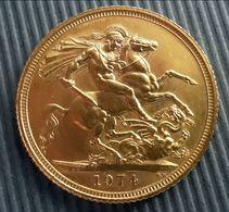 Sterlina D'oro Del 1974 - Grande-Bretagne