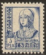 ESPAÑA Edifil 860** Mnh  1 Peseta Azul  Isabel La Católica  1938/39  NL451 - 1931-50 Neufs