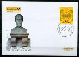 """Germany 2013 First Day Cover FDC Mi.Nr.3036 """"125.Jahrestag Der Abhandlung Von Heinrich Hertz,Physiker""""1 FDC - Fisica"""
