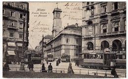 MILANO - PIAZZA DUOMO E VIA MERCANTI - Vedi Retro - Formato Piccolo - Milano