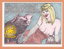 ILLUSTRATEUR DEFLANDRE CICCIOLINA HUMOUR POLITIQUE COCHON FEMME EROTISME NU NUDE TIRAGE NUMEROTE ET LIMITE - Andere Illustrators