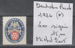TIMBRE D ALLEMAGNE  NEUF (*) 1926  Nr  400  COTE 15  E - Allemagne