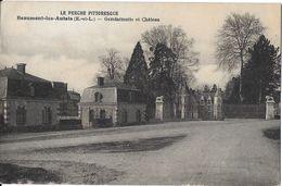 BEAUMONT-LES-AUTELS 28 EURE-ET-LOIR GENDARMERIE ET CHÂTEAU - Francia