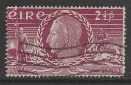 Ireland 1948 The 1798 Rebellion 2½ P Reddish Purple SW 109 O Used - Oblitérés
