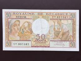 BELGIUM P133B 50 FRANCS 03.04.1956 VF+ - Otros