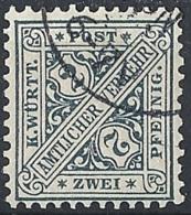 Württemberg, 1896 OFFICIAL 2pf Sl Gray, Unwmk. # Michel 214 - Scott O94 - Yvert S15 USED - Wuerttemberg