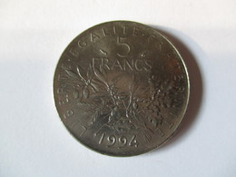 France: 5 Francs Semeuse 1994 - J. 5 Francs