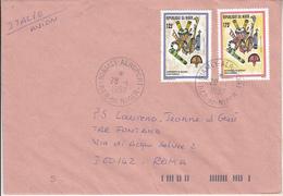Lettre De NIAMEY AÉROPORT Du NIGER  Vers ROME - Niger