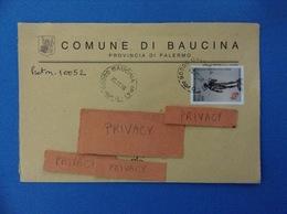 COMUNI D'ITALIA BUSTA DEL 1998 COMUNE DI BAUCINA PALERMO CON DIONISO ISOLATO - 6. 1946-.. Repubblica
