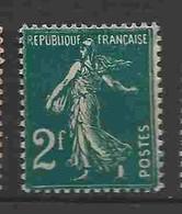 = - Semeuse Camée 2fr - Yvert N° 239 - 1906-38 Semeuse Camée