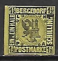 BERGEDORF   -   1861 .  Y&T N° 4 * - Bergedorf