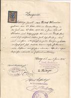 Zeugnis Haag NÖ - 2.6.1925 Mit Aufgeklebter Stempelmarke - Das Papier Geht über Die Scannerfl. Hinaus - Unclassified