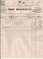 Rechnung Graz -5.1886 Mit Aufgeklebter Stempelmarke - Autriche