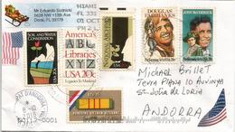 Acteurs Douglas Fairbanks & John McCormack, Sur Lettre Etats-Unis Adressée Andorra - Acteurs