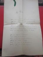 Manuscrit 3-10-1880 Fabuleux Poèmes Discours De Mariage Désiré Chabert/Thérèse Michel--Marseille - Manuscritos