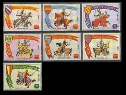 GUINEA ECUATORIAL - CABALLOS - HORSES - CHEVAUX - TORNEOS MEDIEVALES - YVERT Nº 1424** IMPERFORATED - Equatorial Guinea