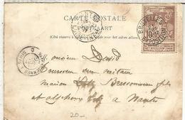 BELGICA 1897 TP CON SELLO Y MATASELLOS EXPOSITION INTERNATIONALE DE BRUXELLES - Exposiciónes Universales