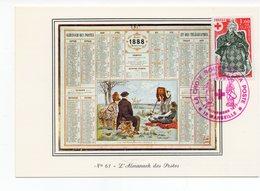 Carte Maximum 1977 - Croix Rouge 1977 - YT 1960 Du 26/11/1977 - 13 Marseille  Almanach Des Postes (Réf 18-749) - Croix-Rouge