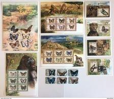 Zambia 2000** Mi.1103-08, Klb.1109-14,1115-20,1121-26,1127-32, Bl.68,69,70,71 Butterflies MNH [20;148] - Papillons