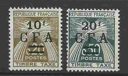 # - Taxes Gerbes N° Yvert 46 Et 47 - Timbres-taxe
