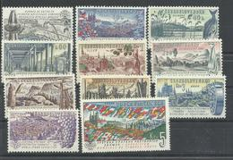 CHECOSLOVAQUIA YVERT  1172/82  (PEQUEÑOS PUNTOS DE OXIDO ATRAS)   MNH  ** - Czechoslovakia