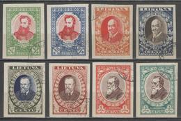 LITUANIE:  N°319/326 Oblitérés Non Dentelés      - Cote 48€ - - Lithuania