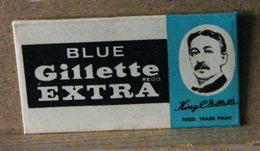 MONDOSORPRESA, LAMETTA DA BARBA, BLUE GILLETTE EXTRA - Razor Blades