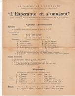 LA MAISON DE L'ESPERANTO à BECON Les BRUYERES   - Alphabet - Esperanto